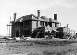 Picture relating to State Circle - titled 'St Andrews House for Presbyterian Church under construction, State Circle, Forrest.'