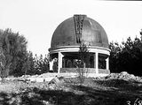 Picture relating to Mount Pleasant - titled 'Observatory dome on Mount Stromlo (or is it Mount Pleasant?)'