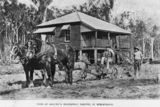 Picture relating to Beerburrum - titled 'Ploughing the paddock in front of the homestead, Beerburrum, ca. 1917'