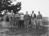 Picture relating to Canberra - titled 'Finalists in Golf Championships, Royal Canberra Golf Club.'