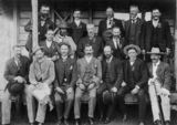 Picture relating to Toowoomba - titled 'Job Stone and other members of the Toowoomba City Council, Queensland, ca.1909'