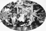 Picture relating to Gatton - titled 'Brunnich children posing for a photograph on a verandah, Gatton'