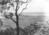 Picture relating to Red Hill - titled 'View from Red Hill over Forrest, Manuka and Kingston to Duntroon showing Hotel Wellington and Telopea Park School.'