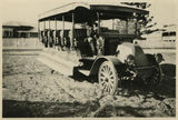 Picture relating to Rockhampton - titled 'Part of the Bean Bus Company fleet of Rockhampton, ca, 1922'