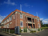 Picture relating to Launceston - titled 'Launceston – Patons and Baldwins Office Building before it was Coats Patons Mill '