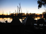 Picture relating to Gunbower Creek - titled 'Sunrise over Gunbower Creek'