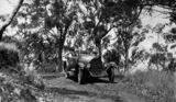 Picture relating to Spicers Gap - titled 'Overland photographed on the road at Spicers Gap, Queensland'