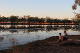Picture relating to Yarralin School - titled 'Billabong at Sunset with teachers from YarKGS'