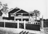 Picture relating to Coorparoo - titled 'House at Coorparoo, Brisbane, with accompanying floor plan, 1920-1930'