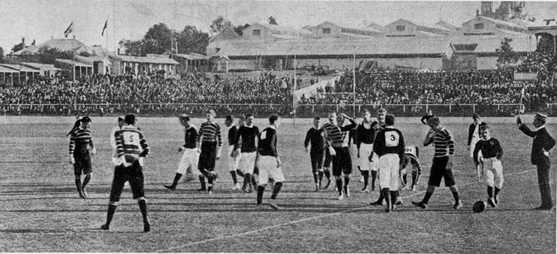 Picture of / about 'Brisbane' Queensland - Rugby Union international football match, Brisbane, 1899