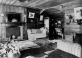 Picture relating to Boonah - titled 'Interior view of the living room at Coochin Coochin Station, ca. 1938'