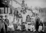 Picture relating to Coen - titled 'Children in fancy dress at Coen, Queensland, 1906'