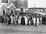 Picture relating to Reid - titled 'Methodist Church, Coranderrk Street and Dirrawan Gardens, Reid, opening.'