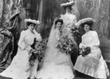 Picture relating to Queensland - titled 'Bride and bridesmaids, 1900-1910'