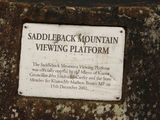 Picture relating to Illawarra Range - titled 'Saddleback Mountain viewing platform plaque.'