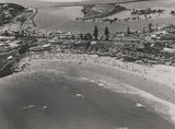 Picture relating to Gold Coast - titled 'Greenmount Beach and Tweed River from the air, Gold Coast, ca. 1955'