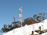 Picture relating to Perisher Village - titled 'Ski jump at Perisher Blue'