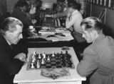 Picture relating to Mount Isa - titled 'Chess game in progress in Mount Isa, 1957'