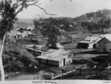 Picture relating to Mount Morgan - titled 'Early view of the small mining town of Mount Morgan, Queensland, ca.1890'