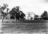 Picture relating to Yarralumla - titled 'Private Entrance, Government House, Residence of the Governor General, Yarralumla.'