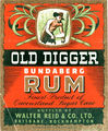 Picture of / about 'Brisbane' Queensland - Old Digger Bundaberg Rum label
