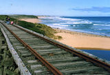 Picture relating to Kilcunda - titled 'Kilcunda Trestle and Bass Strait'