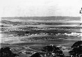 Picture relating to Manuka - titled 'View from Red Hill over Manuka and Kingston toward Duntroon, Collins Park in foreground.'