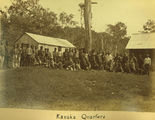 Picture relating to Mackay - titled 'Kanaka quarters at The Cedars plantation, ca. 1883'