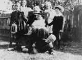 Picture relating to Clayfield - titled 'Grandmother Isabella Campbell and grandchildren at The Brae, Clayfield'