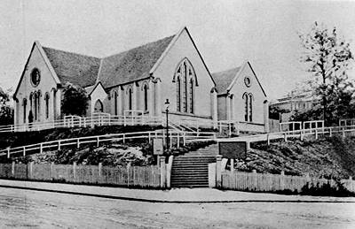 Picture of / about 'Brisbane' Queensland - Wharf Street Congregational Church, Brisbane, ca. 1909