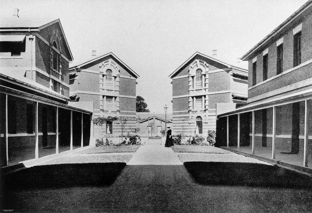 Picture of / about 'Brisbane' Queensland - Quadrangle at the female division of Boggo Road Gaol, Brisbane, 1912