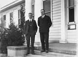 Picture of / about 'Acton' the Australian Capital Territory - Sir John Butters and Mr C B Gowla at the Acton Offices of the FCC