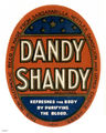 Picture relating to Queensland - titled 'Dandy Shandy label'