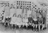 Picture relating to Kerry - titled 'Schoolchildren and their teacher, Kerry, 1913'