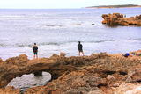 Fishing the 'bridge', Cape Peron WA