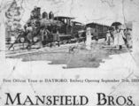 Picture relating to Dayboro - titled 'Advertisement for opening of railway to Dayboro, 1920'