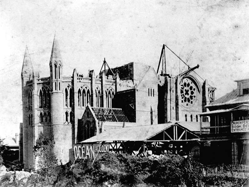 Picture of / about 'Brisbane' Queensland - St John's Anglican Cathedral under construction, ca. 1909