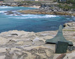 Picture relating to Bondi Beach - titled 'Sculpture by the Sea  View back to Tamarama'