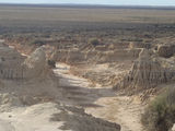 Picture relating to Mungo - titled 'Lunette Erosion in Mungo National Park'