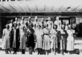 Picture relating to Stanthorpe - titled 'Pierpoint & Sons shop staff pictured at Stanthorpe, 1949'