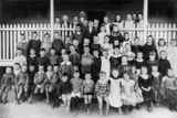 Picture relating to Stanthorpe - titled 'Students on the verandah of Stanthorpe State School, ca. 1905'