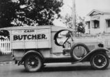 Picture relating to Toowong - titled 'Butcher's delivery van on a Whippet 1929 vehicle'