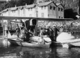 Picture relating to Brisbane River - titled 'Seaplane Savoia Marchetti on the Brisbane River, August 1925'