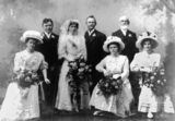 Picture relating to Queensland - titled 'Wedding of Edmund and Esther Bent (nee Lee), 1902'