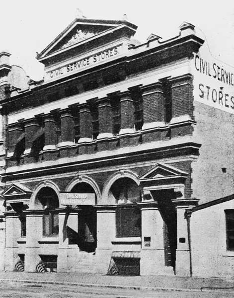 Picture of / about 'Brisbane' Queensland - Civil Service Stores, Adelaide Street, Brisbane, 1906
