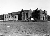 Picture relating to Red Hill - titled 'Church of England Boys Grammar School with Headmaster's residence ( Canon Edwards), on the left, under construction. Flinders Way, Red Hill.'