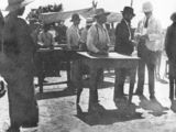 Picture relating to Cooktown - titled 'Gambling tables at the Cooktown races, ca. 1910'