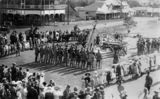 Picture relating to Murgon - titled 'Laying of the Foundation Stone for the War Memorial, Murgon, ca. 1919'