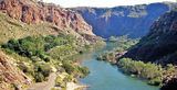 Picture relating to Lake Argyle - titled 'Ord River Gorge below Lake Argyle'