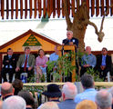 Picture relating to Barcaldine - titled 'Barcaldine Tree of Knowledge Monument opening'